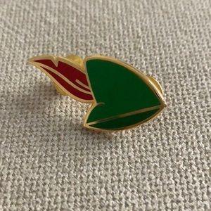 Peter Pan hat pin.